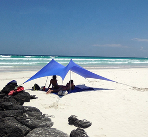 New Nature Lycra Sea Beach Sun Shelter Camping Tents Sandbags Ropes Sun Awning Canopy Beach Tent