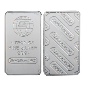 Hot Sale 24K Silver Plated Coin High Quality Gold Banknote Metal Bars with Plastic Case for Collectible