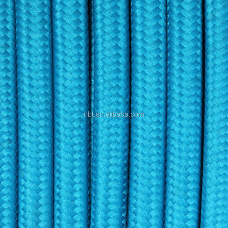 Decorative Cloth Covered braided Cable vintage Edison style electrical Wire, Textile Braided Cable