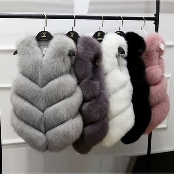 Hot Selling Elegance Fashion Clothing V Neck Warm European Coat Winter Vest Women Faux Fur Lining Cheap Turkey Fur Coat