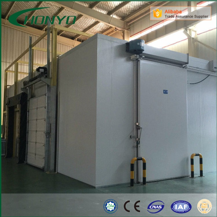 The Pu Panels Modular Walk In Cold Storage Room Equipment For Meat Fish Vegetable Fruit