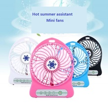 Environment summer use mini cool colorful USB portable electric fan with led light 1200mah lithium battery usb fan