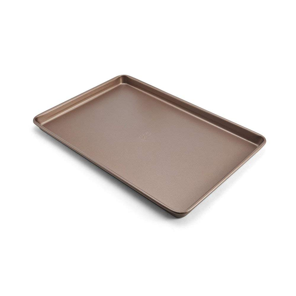 Chicago Metallic 5212099 Elite Non-Stick Carbon Steel Large Cookie/Baking Sheet, 17-Inch-by-11.25-Inch, Bronze
