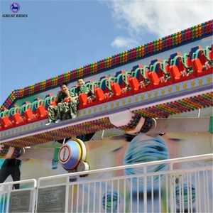 Earn money amusement park rides family games swing 18 seats crazy wave miami trip for sale