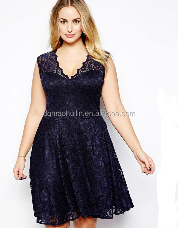 Fat Women Big Size Elegant Lace Dresses Good Quality Plus Size ...