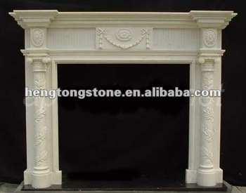 Simple Italian White Marble Fireplace With Columns - Buy Italian ...