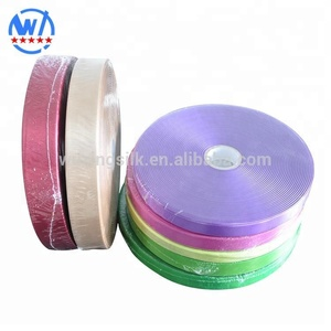 Eco-friendly Wash Care Woven Edged Double Face Satin Colorful Ribbon