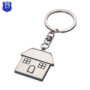 High Quality custom soft enamel house shaped home key decorate holder keychain