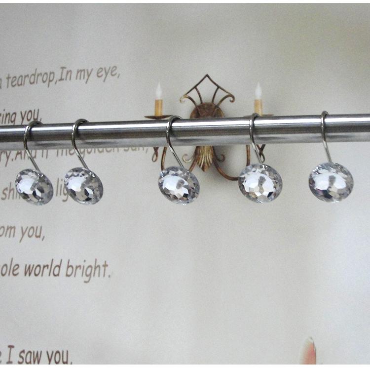 Small crystal shower curtain hooks Crystal acrylic hook Shower ...