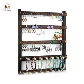 dernier porte bijoux en bois conceptions de support mural. Black Bedroom Furniture Sets. Home Design Ideas