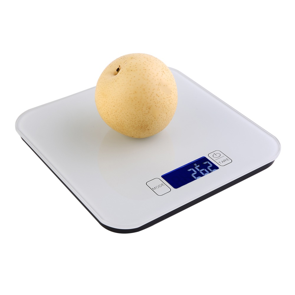 5KG/1g ABS Plastic HD LCD Display Digital Scale Weight With White LED Backlight Electronic Scale Household Kitchen Scales