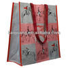 Fashion PP Woven Laminated Bag with Custom Logo Print Hand Tote Bag