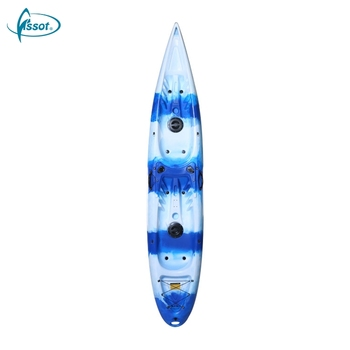 Brand new unique Design recreational family two seat sea canoe fishing cheap plastic kayak