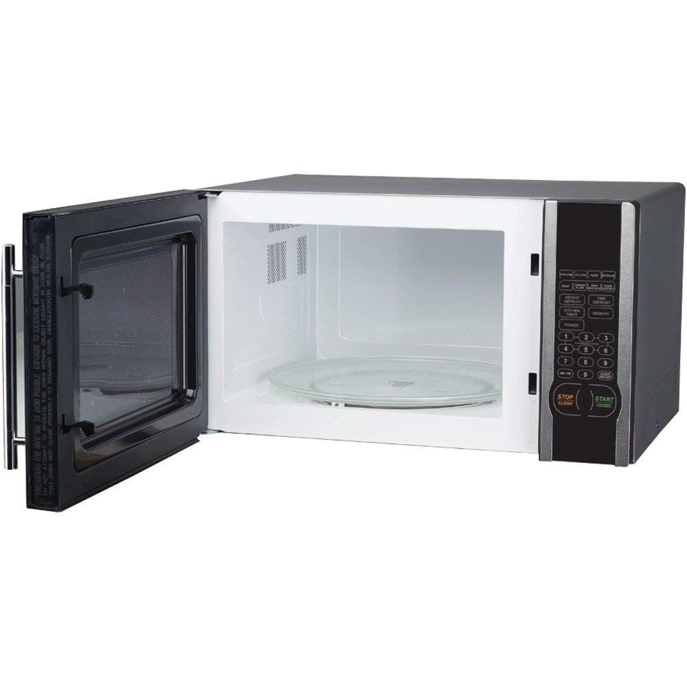 Magic Chef Mcm1110st 1.1 Cubic-Ft 1000-Watt Stainless Microwave With Digital Touch