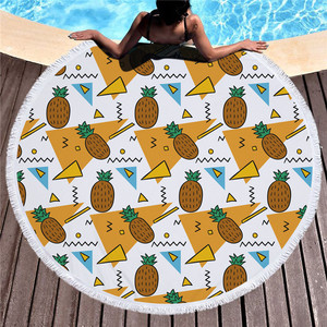 Ultra Soft Room Decor Multi-Purpose Colorful Towel Large Round Beach Towel