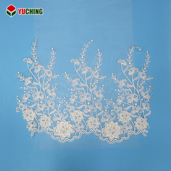 Flower Motif Good Elegance Elegant Raschel Flat Lace Trims