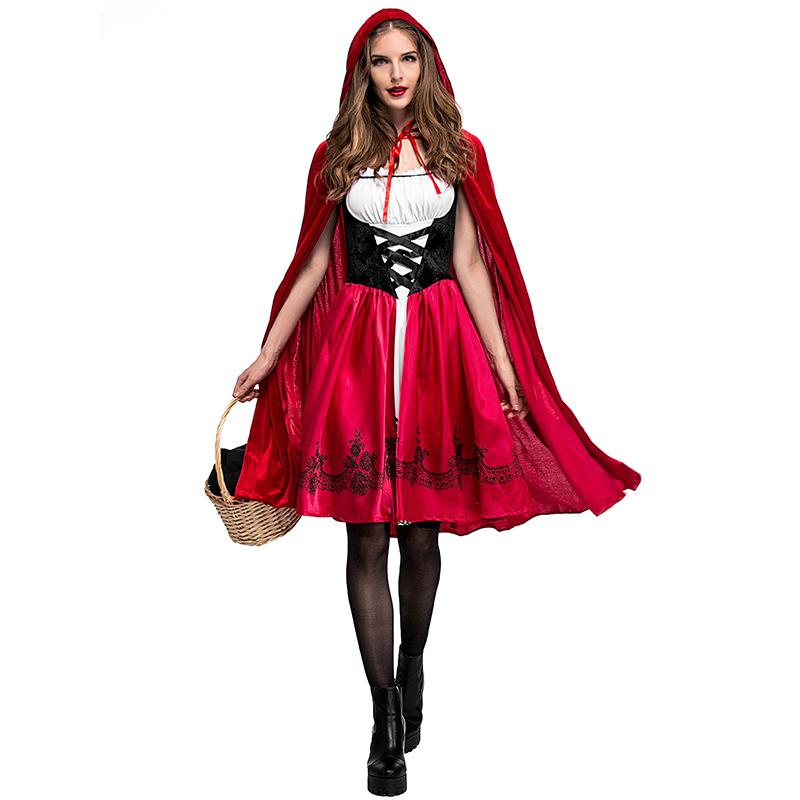 Disfraces Para Halloween De Caperucita Roja.Disfraces De Halloween Para Las Mujeres Cosplay Sexy Caperucita Roja Juego De Fantasia Uniformes Vestido De Lujo Traje Eps9013 Buy Traje De Cosplay