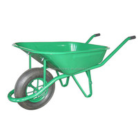 welding usa wooden handle wheelbarrow big wheel/construction wheelbarrow 65L