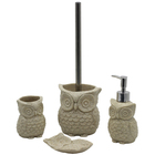 BX Group sand filling owl polyresin bathroom accessories kid set with lotion bottle