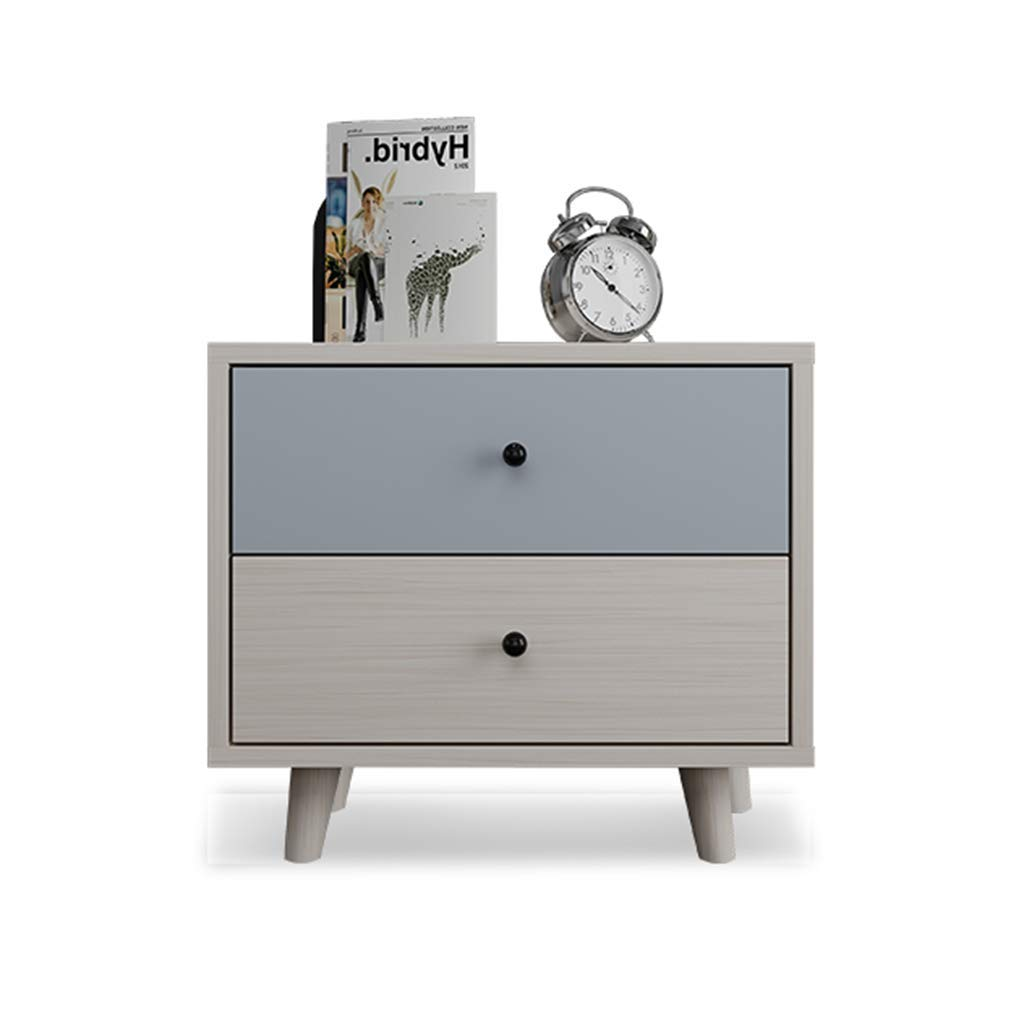 Bedside table Dressing Table Solid Wood Painted Storage Cabinet Bedside Cabinet Simple Solid Wood Storage Cabinet (Color : Multi-Colored, Size : 505047cm)