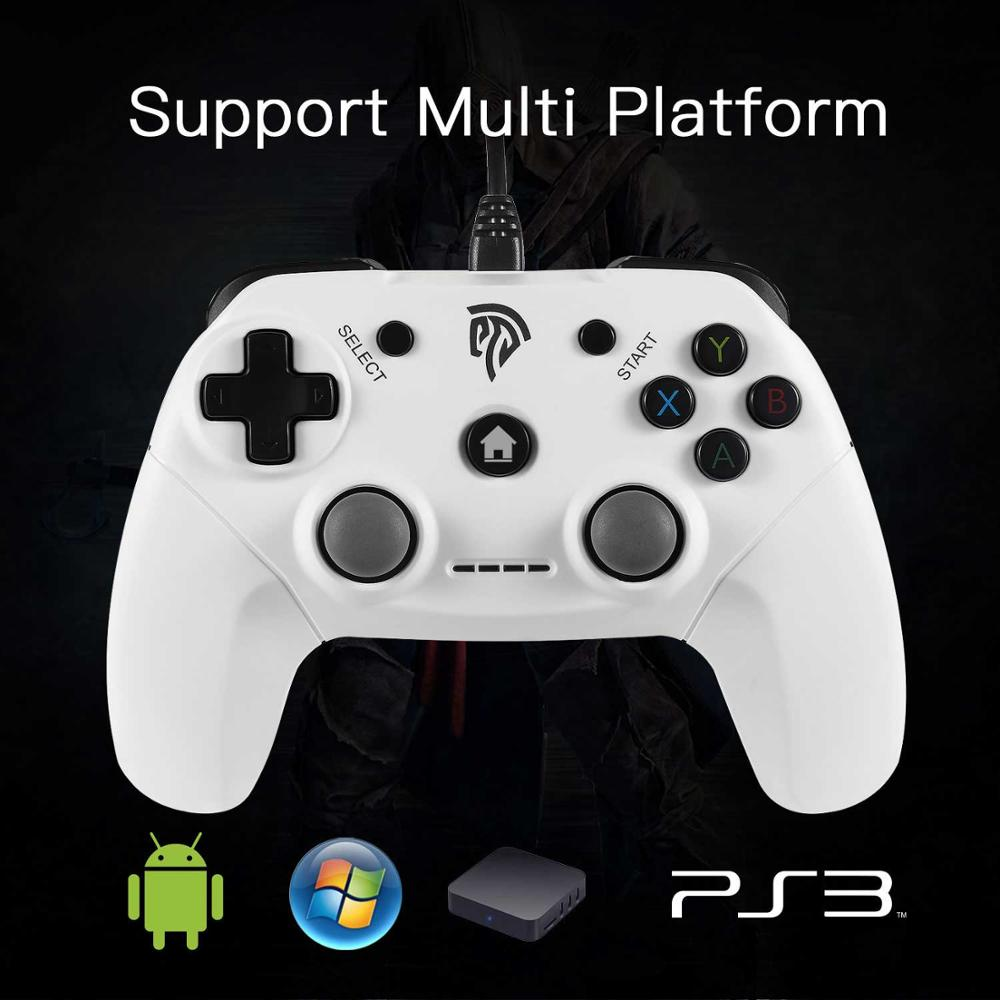 Easysmx Dual-vibration Wired Usb Gamepad Joystick For Pc/ps3/tv Box ...
