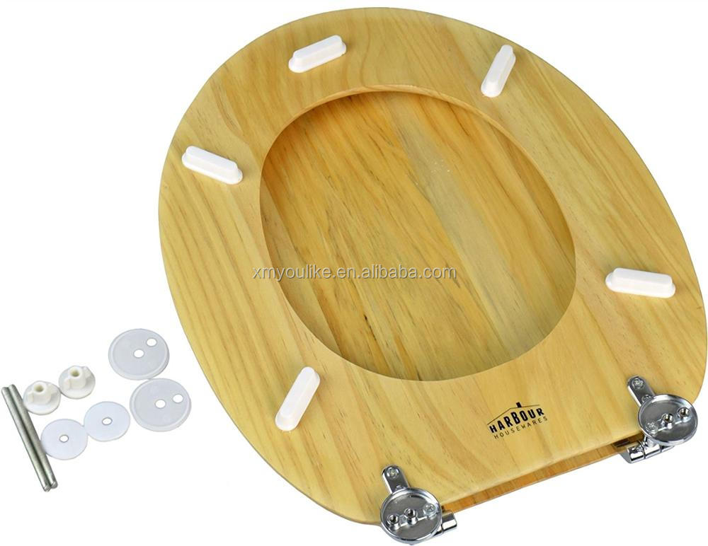 Fancy Bamboo Wood Toilet Seat