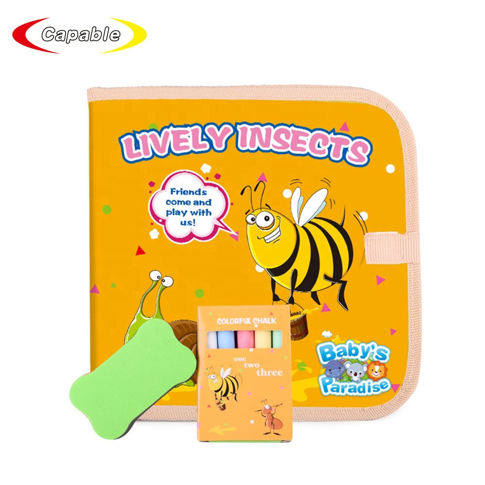 Educational toy cloth chalk book DIY coloring book for kids