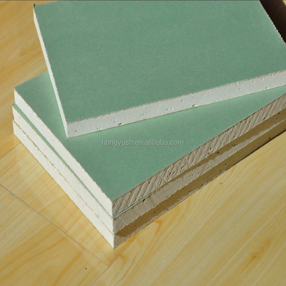 waterproof yellow and green drywall gypsum board