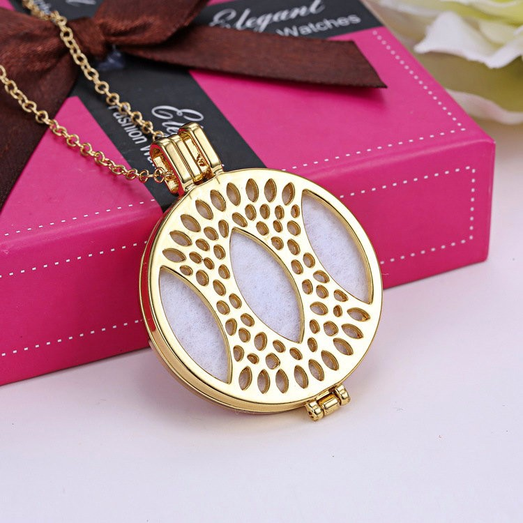 Imitation gold necklace locket open pendant necklace National wind fashion sautoir