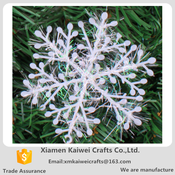 Plastic Christmas White Snowflake For Xms Tree Decoration