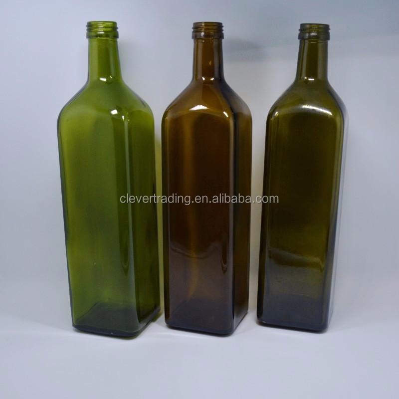 500 Ml Green Square Minyak Zaitun Botol Kaca