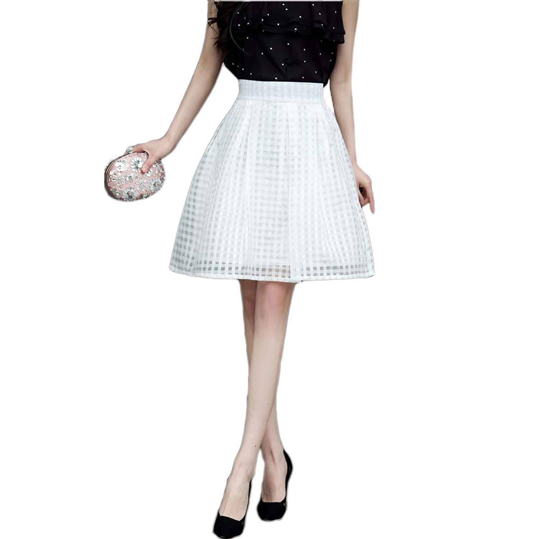 7f9d4aa1e Get Quotations · E.a@market Women's Organza High Waist A-line Skirt Bust  Skirt Bubble Skirt