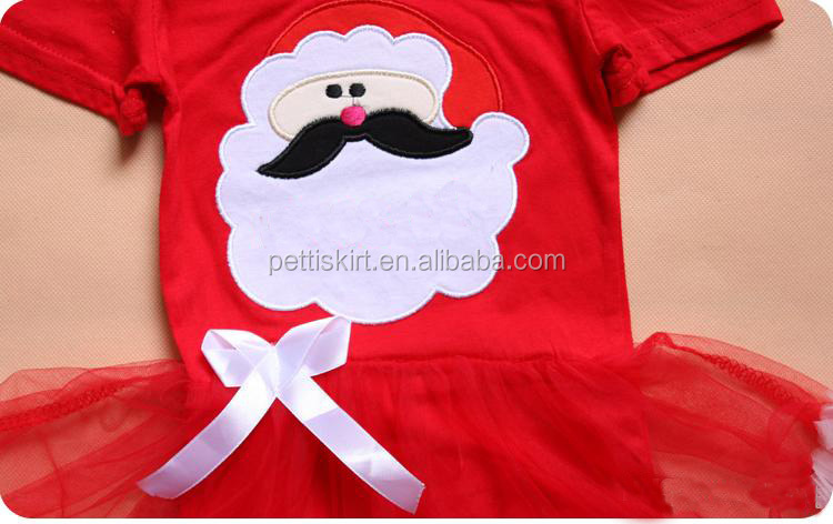 New Year Baby Girls Ruffle Tulle Rompers Clothes Kids Red Santa Baby TuTu Romper
