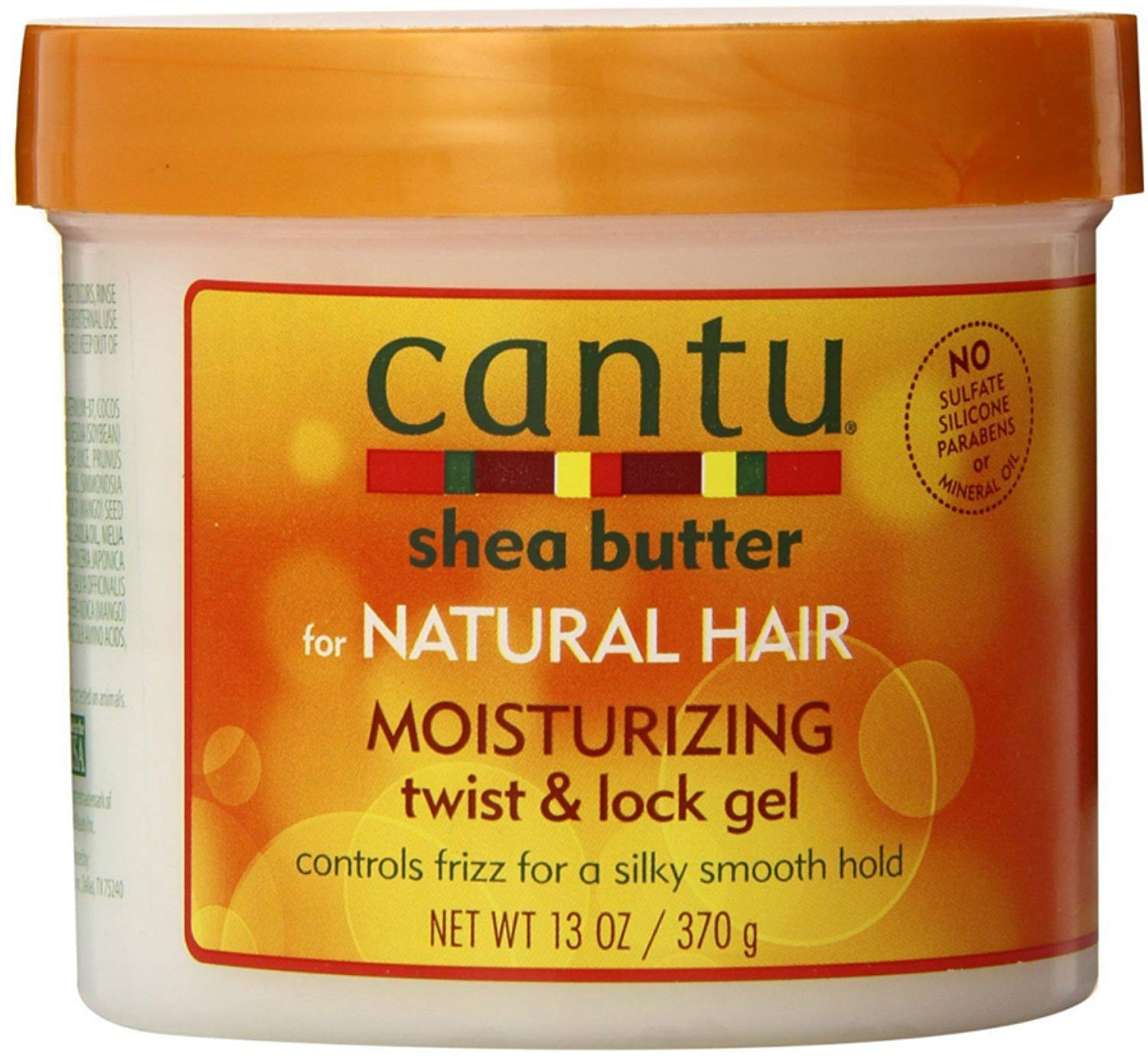 Cantu Shea Butter For Natural Hair Moisturizing Twist & Lock Gel, 13 ounce (Pack of 4)