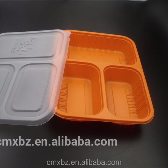 Cheap latest plastic disposable foam 3 compartment lunch box
