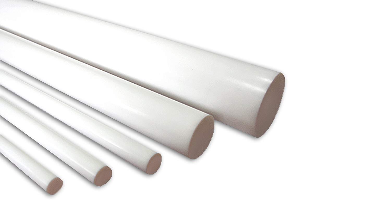 "Ptfe Virgin Plastic Rod Bar .375/"" 3//8/"" Diameter x 12/"" Length Teflon"