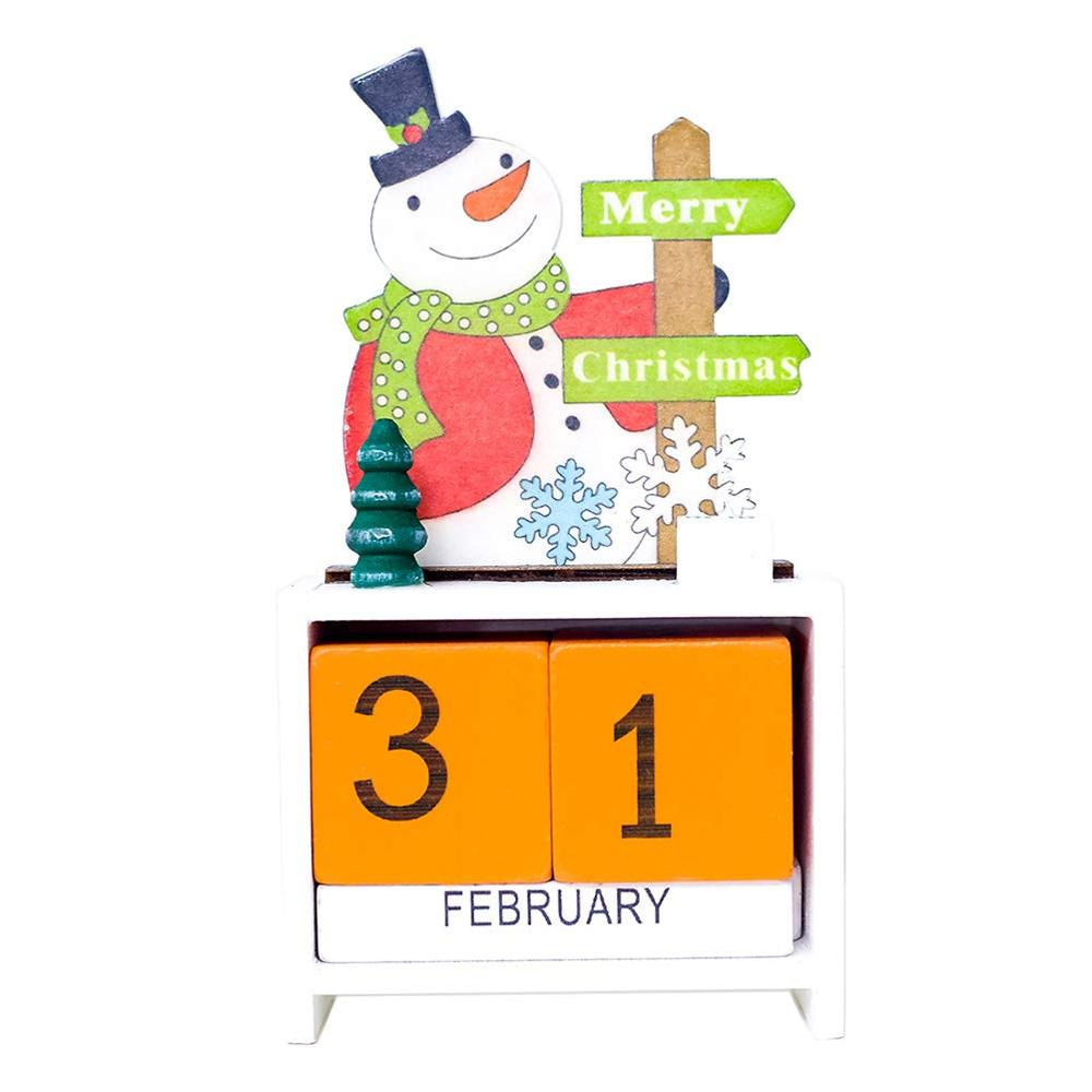 DIY Desktop Decor Leuke Kerst Thema Kalender Cartoon Houten Kalenders