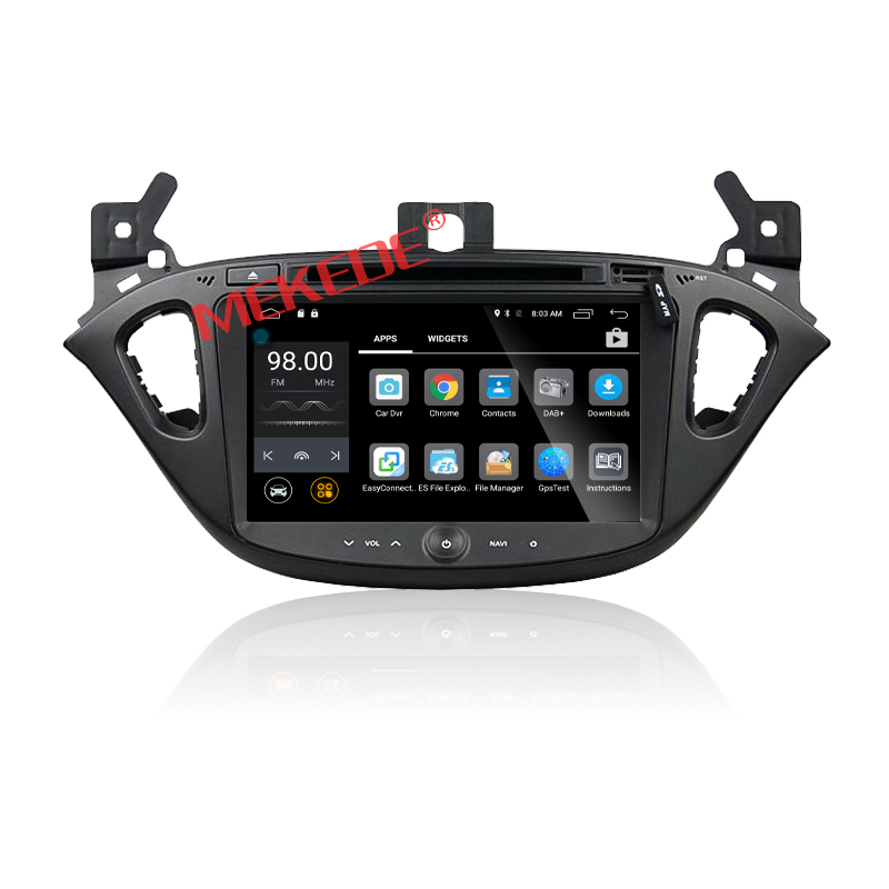 Android 7.1 car dvd player for Opel Corsa 2016 with HD 1024*600 Capacitive Touch Screen