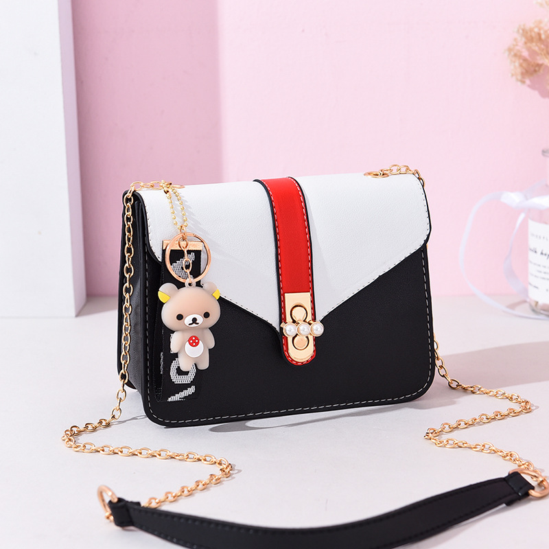 2019 in stock cheap cute bear pu leather bags handbags for women