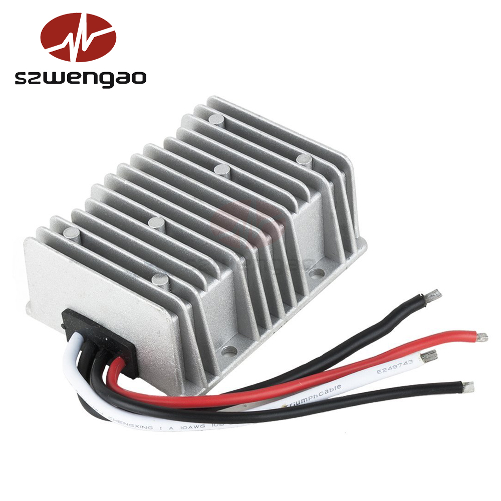 Professional DC 48V 35V-60V to DC 12V 30A 360W Converter, Full load efficiency up to 95%, New Big for Good Heat Dissipation