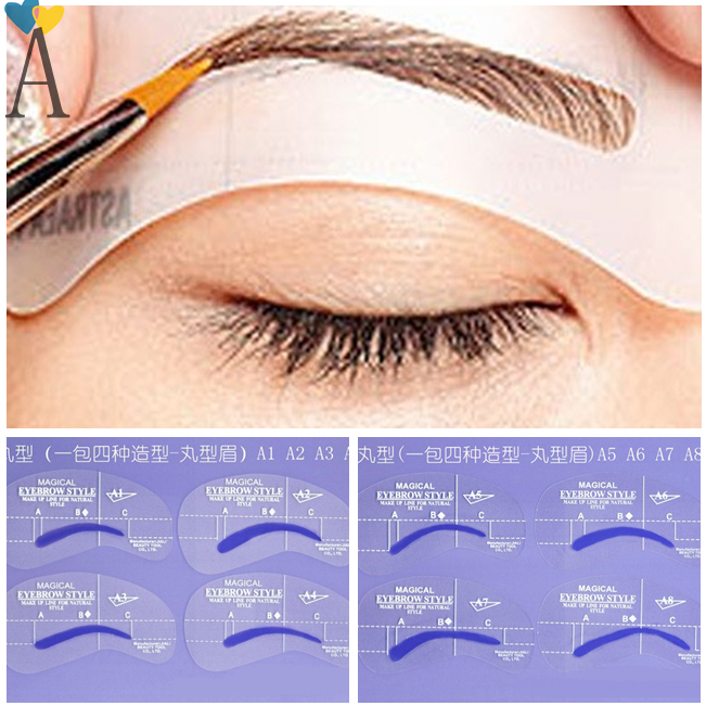 eyebrow templates printable - buy 8pcs a styles brow painted eyebrow