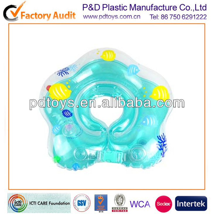 inflatable PVC 5 stars shape neck collar ring for baby swimming
