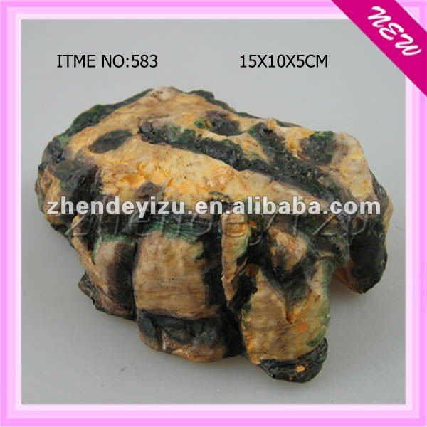 Aquarium Resin Stone Decoration Ornament For Pet Hide And Play ...