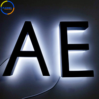 3D Outdoor And Indoor Letter Lobby Signs Backlit Luminous Letter Led Backlit House Number