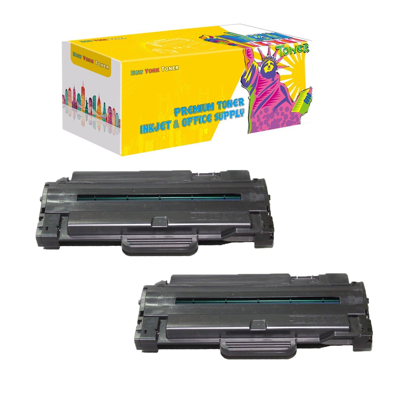 New York Toner TM New Compatible 2 Pack Samsung MLT-105L High Yield Toner for Samsung - ML-1910 | ML1910 | ML-1915 | ML1915 | ML-2525 | ML2525 | ML-2580 | ML2580 | SCX-4600 | SCX-4623 | SF650 | SF650P . --Black