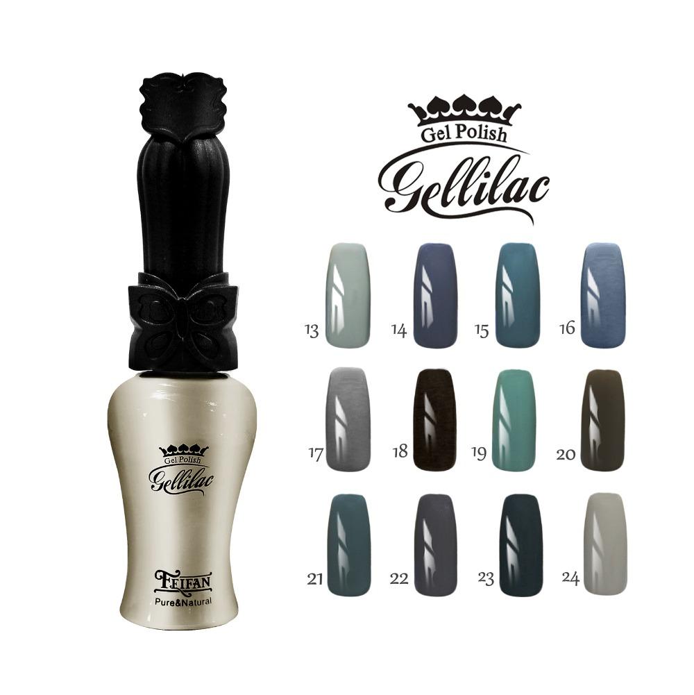 Free shipping Grandma Gray series 6pcs FeiFan UV Gel Nail Polish 15ml 12 charming colors for
