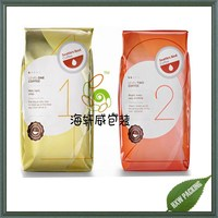 quad seal four side seal gusset aluminum foil vacuum packaging pouch for coffee bean