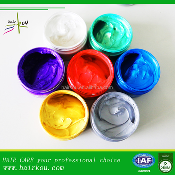 Hair Dye Wax/gel Color Pomade Temporary Hair Color Cream - Buy ...