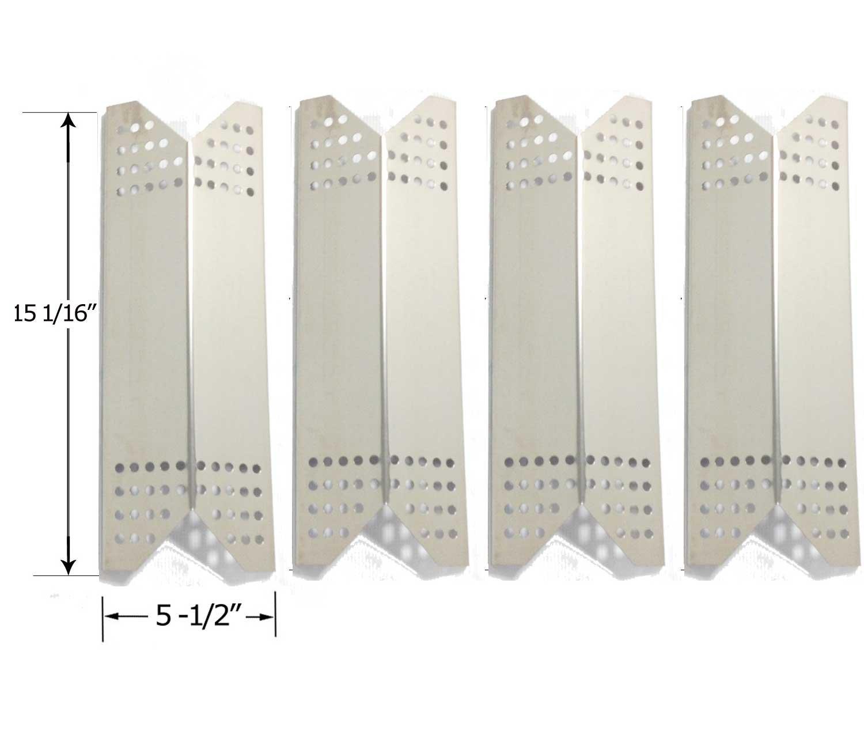 Kmart 640-26629611-0, 640-82960811-6, 640-82960828-6, 720-0718C & Uberhaus 780-0007A (4-PACK) Stainless Steel Heat Shield