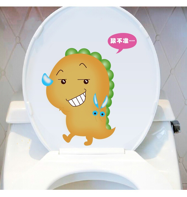 M1-50 fashion cute bathroom toilet stickers home decor  removable waterproof vinyl decals free shipping